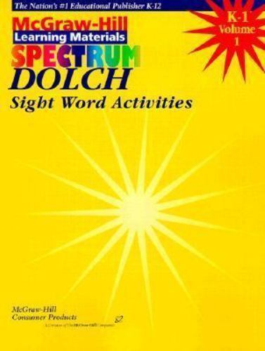 Dolch Sight Word Activities (Spectrum Series) by Marinovich, Carol
