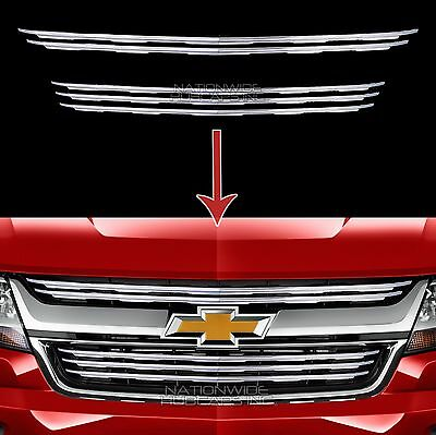 2015 2018 Chevy Colorado Chrome Snap On Grille Overlays 5