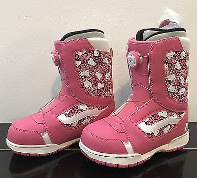 Vans Girls Encore Hello Kitty Pink Snowboard Boots. Size 4 UK.