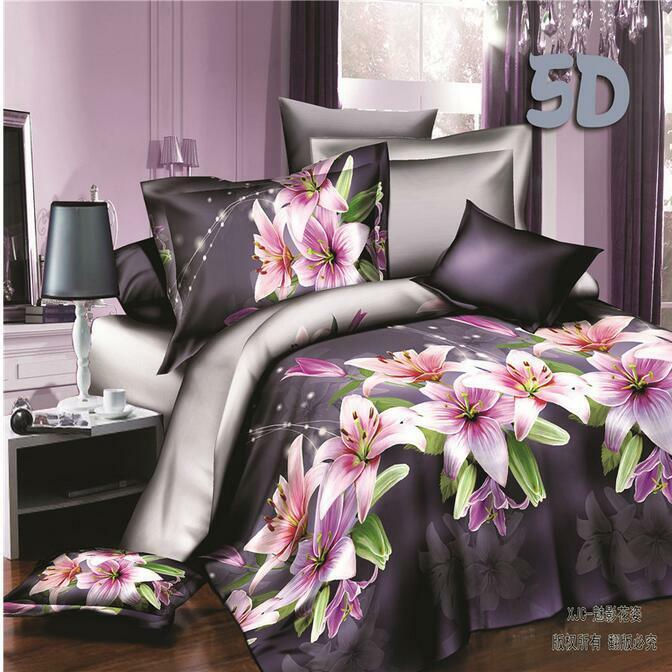 14 color printed Bedding 3D Set Cover With Pillowcases Duvet Quilt Queen BJ03