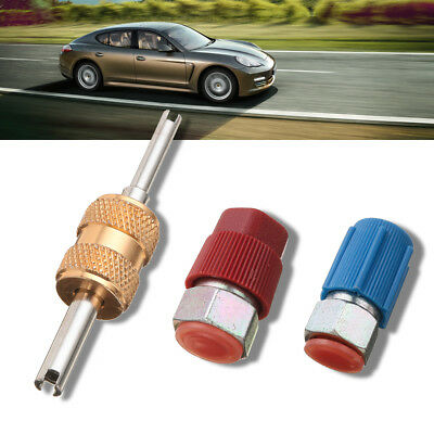 """4 Sets Car R12 to R134a 3//16/"""" 1//4/"""" HIGH LOW AC Fitting Charging Port Adapter"""