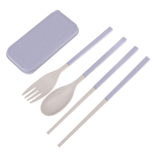 Portable Réutilisable Cuillère Fourchette Voyage baguettes paille de blé Vaisselle Couverts Set