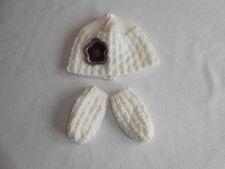 Baby Ragazze Vestiti 0-3 mesi-Carino Ragazza Inverno A Maglia Cappello & Guanti -