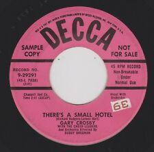 GARY CROSBY {50s Vocal Pop Crooner} There's A Small Hotel / Ready Willing ♫HEAR