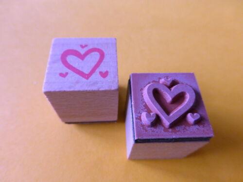 Motivstempel  Herzen  Stempel  Stamping  ca:18x18mm Kartengestaltung Basteln
