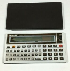 Vintage-SHARP-PC-1261-Pocket-Computer-Calculator-W-Hard-Cover