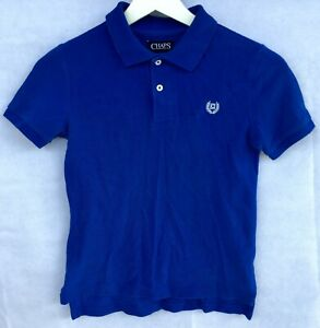 Boys-RALPH-LAUREN-CHAPS-Royal-Blue-Short-Sleeve-POLO-SHIRT-SIZE-7-VGUC