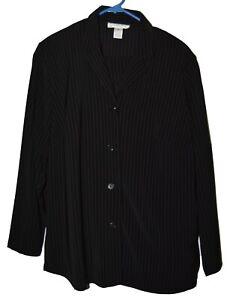 Judith-Hart-Woman-BLACK-pinstripe-pantsuit-16W