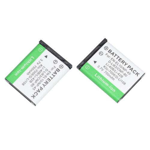 7006 Li-42B//40B para LI-40C FE-280 FE-220 FE-330 2 xBattery Para EN-EL10 NP45 Klic