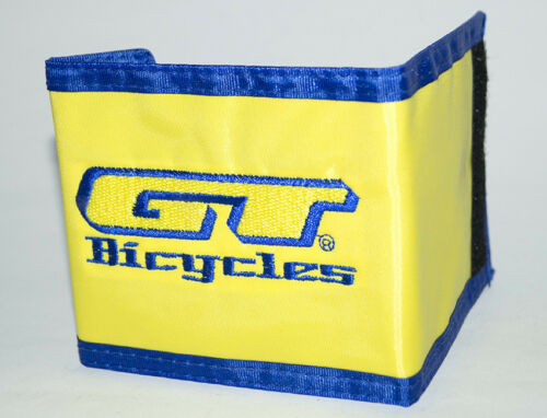 NOS vintage mid old school BMX GT Bicycles wallet Patch Dyno Auburn Yellow