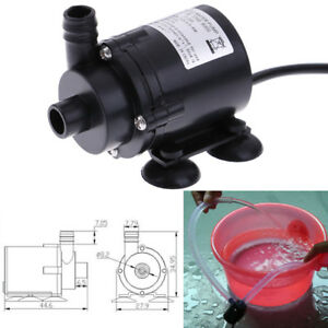DC12V 280L/H Electric Mini Water Pump Brushless Motor Submersible for AquarE TR