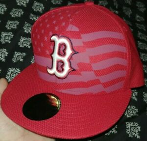74482d1aa New Era Boston Red Sox Independence Day Cap Hat 59FIFTY 7 1/8 MLB ...