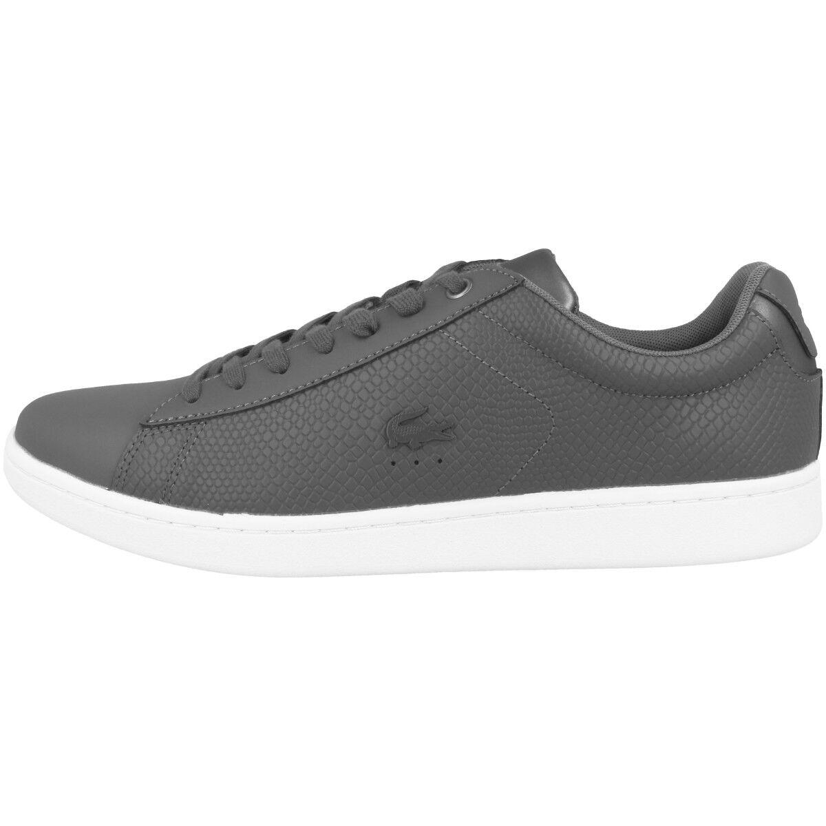 Lacoste Carnaby EVO 417 2 Schuhe Herren Leder Turnschuhe dark grau 7-34SPM0043-248
