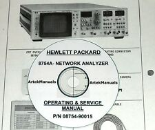 Hewlett Packard Operating & Service Manual for the 8754A Network Analyzer