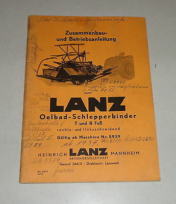 Agriculture/farming Operating Instructions Lanz Oelbad Schlepperbinder 7/8 Foot Right Link Cutting To Be Distributed All Over The World