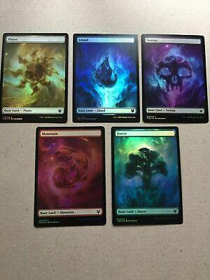 MTG Theros Beyond Death Basic Land Complete Set 1 of Each Art 10 Cards