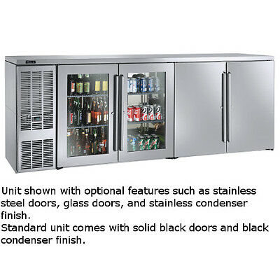 "Perlick BBSN92 92"" Narrow Door Four-Section Refrigerated Back Bar Cabinet"