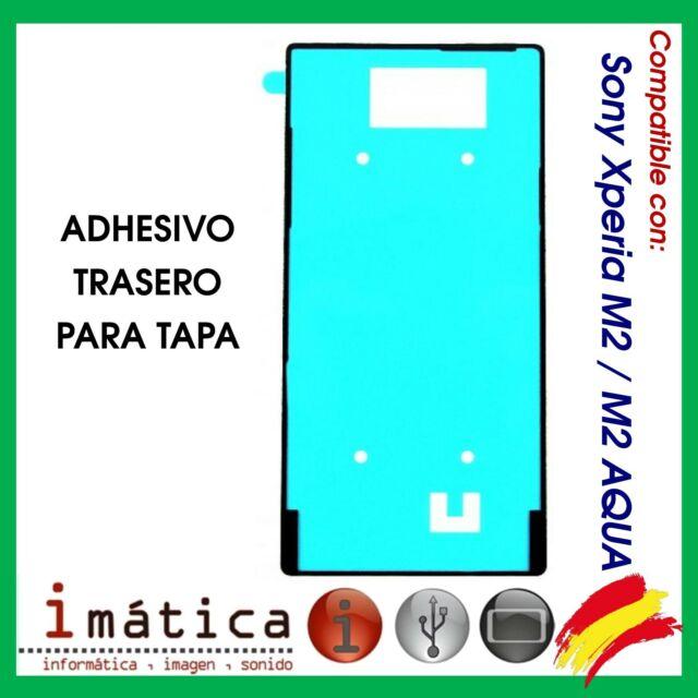 ADHESIVO DE TAPA PARA SONY XPERIA M2 D2302 D2303 TRASERA TRASERO BATERIA AQUA