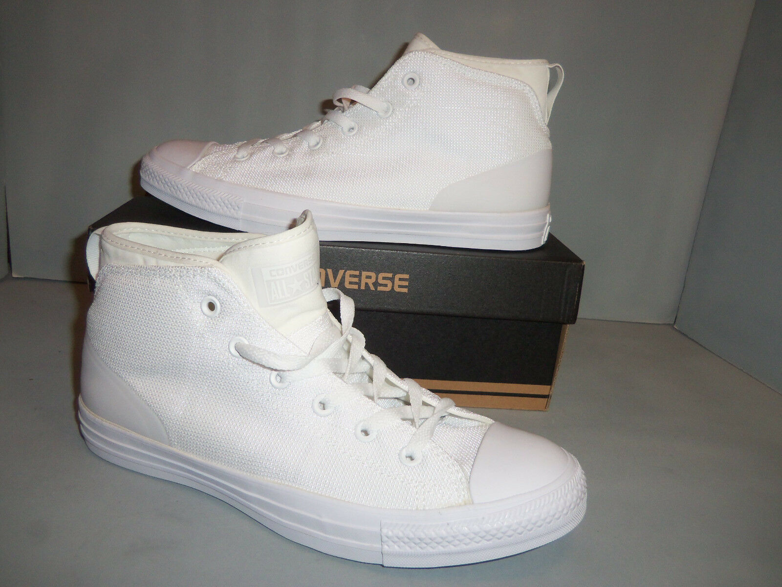 Converse Men's Chuck Taylor All Star Syde Street Mid-Top Casual Shoes White size