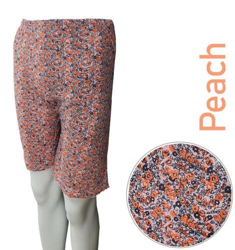 Womens Boxers Semi Long Underwear Knickers Cotton Mix Flowers Print M L XL 2XL