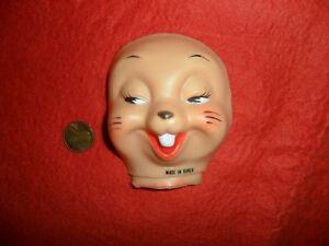 Vintage Hand Painted Rabbit Face 1//2 head