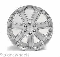 "4 Chevy Silverado Avalanche Hyper Black Chrome Inserts 20"" Wheels Rims 5660"