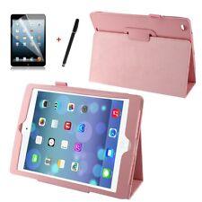 Hülle f Apple iPad Air 5 Schutzhülle Case  Tasche  Leder-Imitat rosa pink rosy