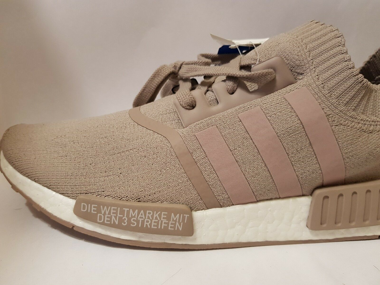 Adidas French Beige NMD Size US 12.5 Mens PK Primeknit R1 S81848