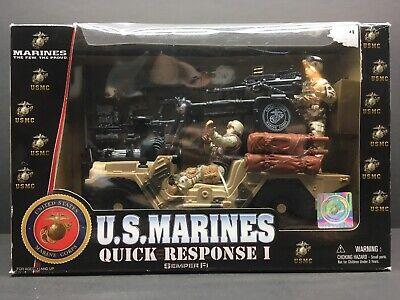 USMC U.S Marines Quick Response I Desert Patrol Playset Military Action Figures