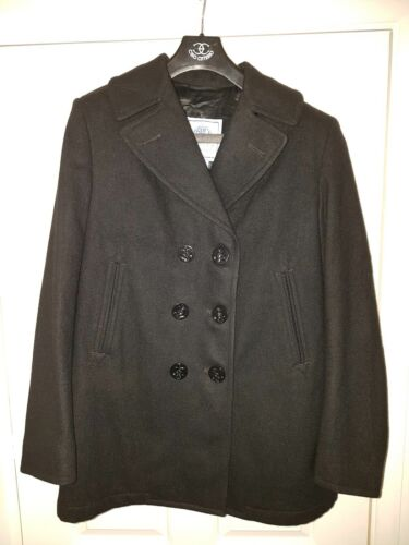 Genuine Us Navy 100 Wool 14 Military Enlisted Uk Women's l Coat 10 Pea l rfrqxT6