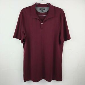Banana-Republic-Men-039-s-Luxury-Touch-Polo-Shirt-Maroon-Size-X-Large-Tall-XL