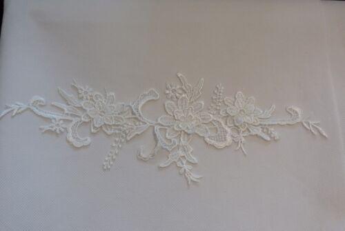 ivory cotton floral lace motif Per piece 3D floral layers ivory lace applique
