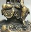 8-034-Old-Tibet-Buddhism-Bronze-Free-Kwan-Yin-Bodhisattva-On-Stone-GuanYin-Statue miniature 6