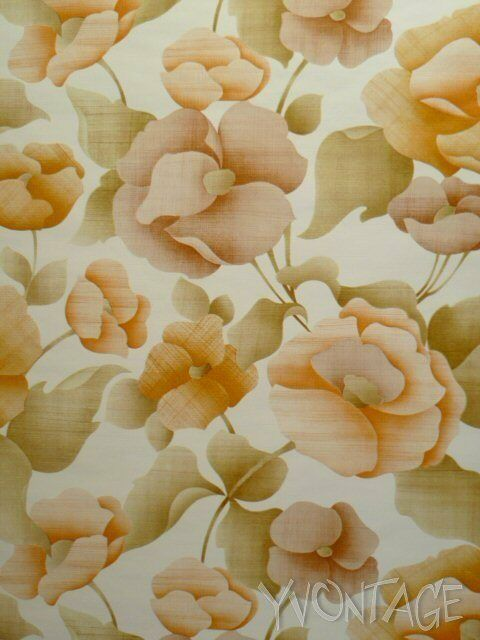 Tapete Wandtapete original 70er Blumen floral französisch GePe