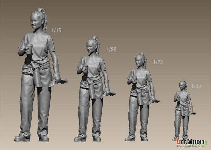 DEF. Model, moderne femelle mécanicien Crew, DF16003, 1:16 1:16 DF16003, 08e1db