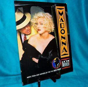 Selten-039-90-Madonna-Dick-Tracy-Film-I-039-M-Breathess-Klavier-Notenblatt-Songbuch