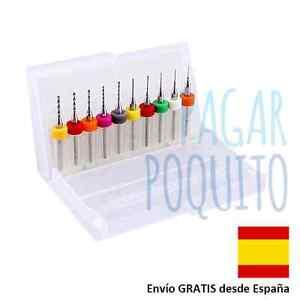 10-mini-micro-brocas-0-3-1-2mm-Dremel-boquilla-impresora-3D-CNC-RepRap-Prusa