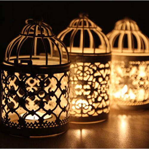 Metal Hollow Candle Holder Tealight Candlestick Hanging Lantern Bird Cage .DECOR