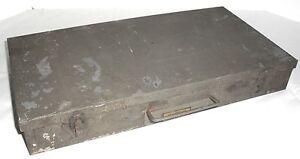 Image Is Loading Vtg Brumberger 150 Slide Tray Tin Steel Storage