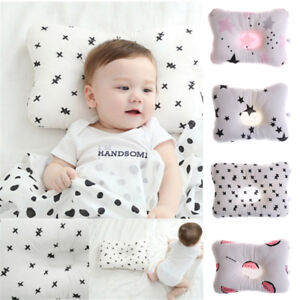 Newborn-Infant-Baby-Pillow-Prevent-Anti-Roll-Flat-Head-Neck-Cushion-Pillow-newEP