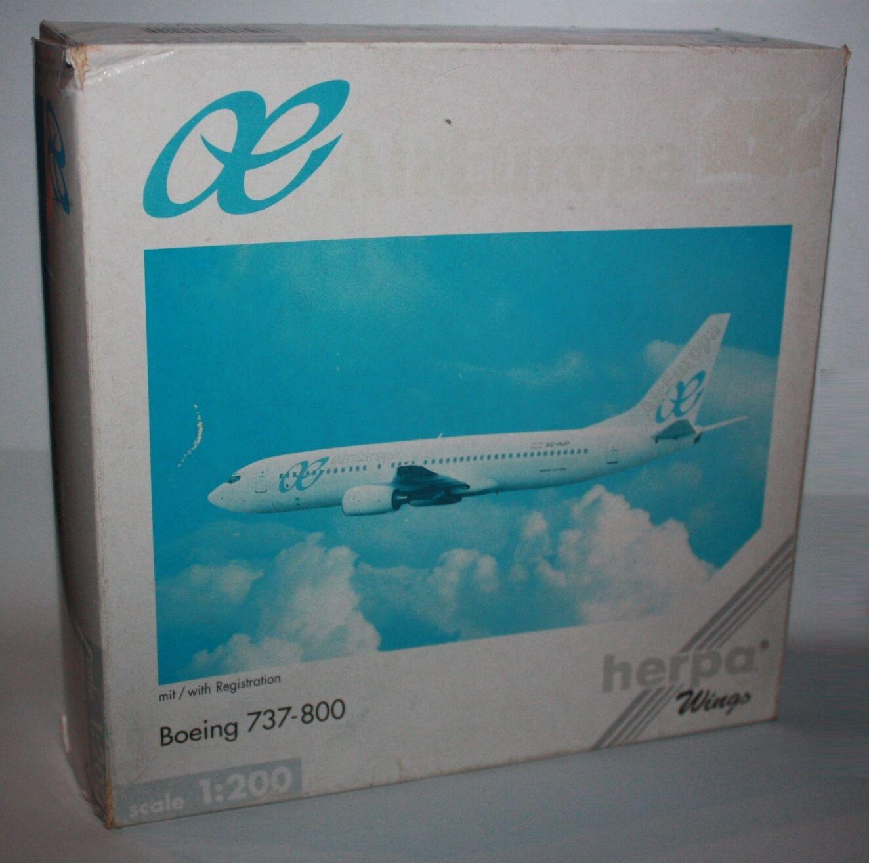 Herpa Wings-AirEuropa-Boeing 737-800-m w Reg.-Maßstab 1 200-Modell-rare  550215  | Großhandel