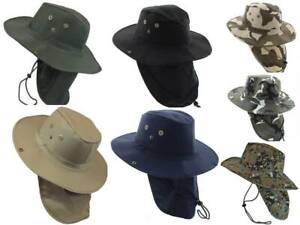 59d5eb39 Image is loading Boonie-Military-Camouflage-Safari-Outdoor-Fishing -Hiking-Hunting-