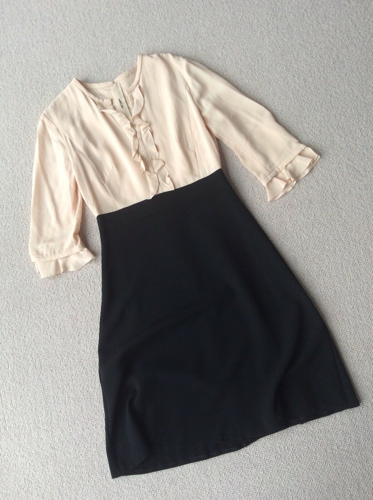Elegant Designer MARCCAIN Blaush schwarz  Dress Größe UK10 RRP  Vgc