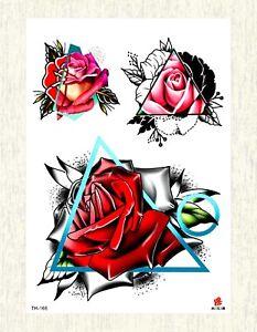 Rose Flower Large 8 25 Amp Amp Amp Amp Amp Quot Arm Tattoo Cool Wrist Tattoo Ebay