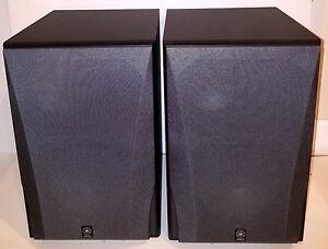 Image Is Loading Pair Yamaha NS 6490 3 Way Bookshelf Speakers