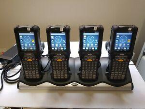 Zebra-4-x-MC92N0-Android-Gun-amp-4-Slot-Charg-Cradle-MC92N0-GJ0SYEAA6WR-Lot-1065