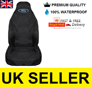 FORD ESCORT CAR SEAT COVER PROTECTOR 100% WATERPROOF / HEAVY DUTY /  BLACK