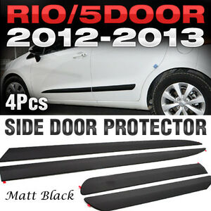Image is loading Side-Door-Protector-Garnish-Molding-Matt-Black-4P- & Side Door Protector Garnish Molding Matt Black 4P for KIA 2012-17 ...