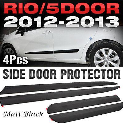 Side Door Protector Garnish Molding Matt Black 4P for KIA 2012-17 Rio Hatchback