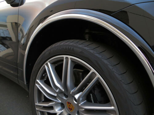 NEW 4PCS CHROME WHEEL WELL FENDER TRIM MOLDING GUARD KIT for jeep04-17